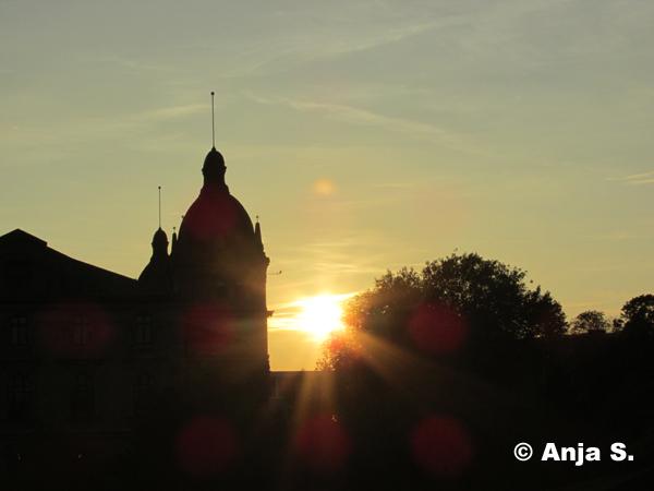 Sonnenuntergang auf dem Johannisberg am 1. Oktober 2014